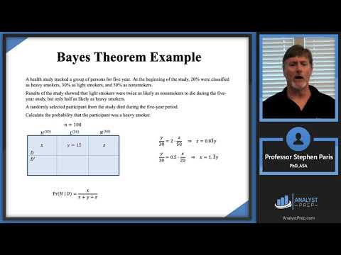 Bayes Theorem Example (SOA Exam P – Probability – General ...
