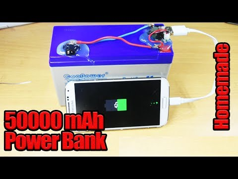 How To Make A 50000 mAh power Bank From 12v battery - Homemade  ( Rechargeable POWER BANK )