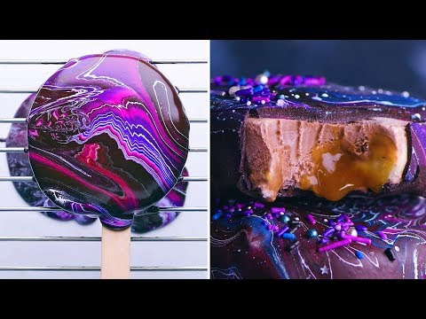 Ice Cream Desserts | Summer Treats | Homemade Galaxy Popsicles Cones and More By So Yummy