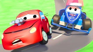 Videa s náklaďáky pro děti - Závodící náklaďák Formule 1