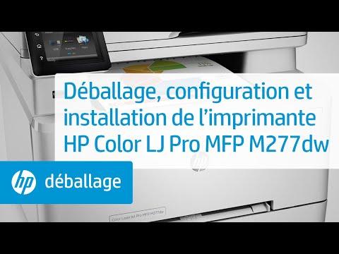 Déballage, configuration et installation de l'imprimante HP Color LaserJet Pro MFP M277dw