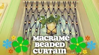 DIY Macrame Beaded Curtains (With A Built-In Planter) - Crafty Lumberjacks - HGTV Handmade 70s Week