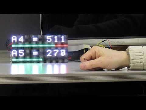 Arduino P10 LED Dot Matrix Display Driver Shield - смотреть