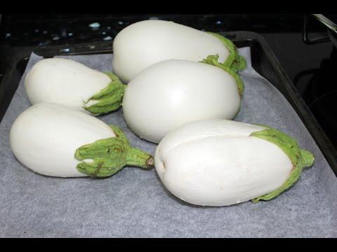 berenjenas blancas rellenas de queso