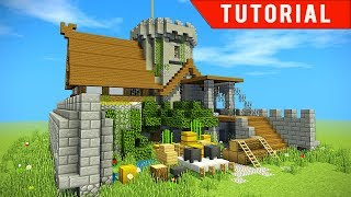 Minecraft How To Make A Castle Survival Base For Friends Easy