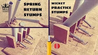 HOW TO MAKE SPRING BACK CRICKET STUMPS AT HOME| Cricket Stumps With PVC Pipe | Cricket Stumps DIY