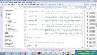 Controller Area Network(CAN) programming Tutorial 17 : Coding for CAN data transmission