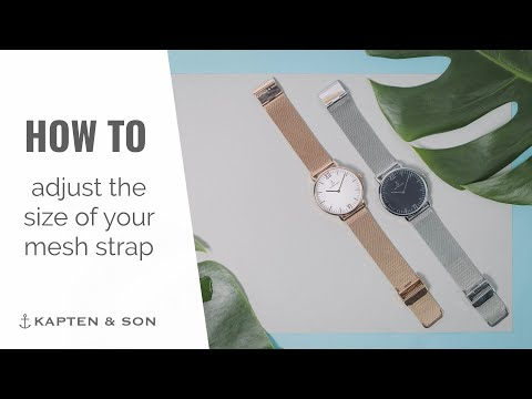 How to adjust the size of your Mesh Strap