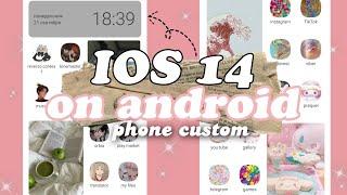 Оформление ios 14 на android????// как поменять иконки на андроиде????// фотографии на главном экране????
