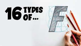 16 Types Of... F - ✏️Draw With Stefan (Hand Lettering Exercise)