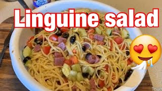 How To Make Delicious  Linguine Salad Just Like Grandmom