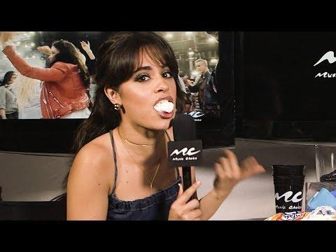 Camila Cabello Eats Too Many Marshmallows in Chubby Bunny Challenge