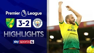 SUBSCRIBE ► http://bit.ly/SSFootballSub Highlights of Norwich City's shock 3-2 victory over Manchester City in the Premier League. Watch Premier League LIVE on Sky Sports here ► http://bit.ly/WatchSkyPL ►TWITTER: https://twitter.com/skysportsfootball ►FACEBOOK: http://www.facebook.com/skysports ►WEBSITE: http://www.skysports.com/football  MORE FROM SKY SPORTS ON YOUTUBE: ►SKY SPORTS FOOTBALL: http://bit.ly/SSFootballSub ►SKY SPORTS BOXING: http://bit.ly/SSBoxingSub ►SOCCER AM: http://bit.ly/SoccerAMSub ►SKY SPORTS F1: http://bit.ly/SubscribeSkyF1
