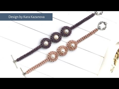 Pearl Planets bracelet tutorial | Cubic Right Angle Weave