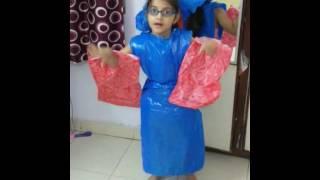 Anusha As Polythene In Fancy Dress.