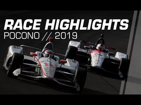 インディカー第14戦ポコノ・レースウェイレースハイライト動画