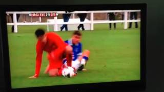 Joe Williams red card