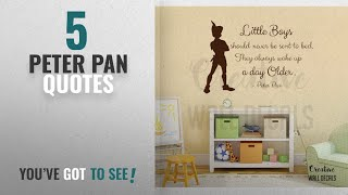 Top 10 Peter Pan Quotes [2018]: Vinyl Wall Decal Sticker Peter Pan Quote Little Boys Nursery Baby