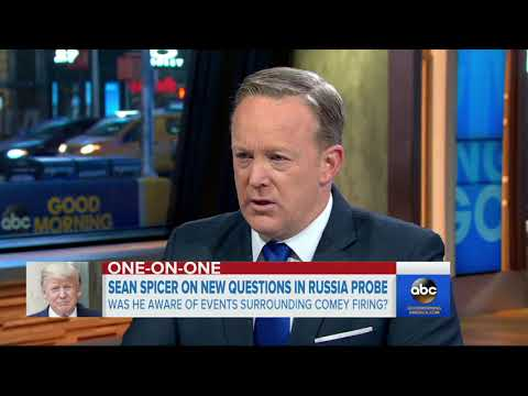 Sean Spicer reacts to details in Trump tell-all