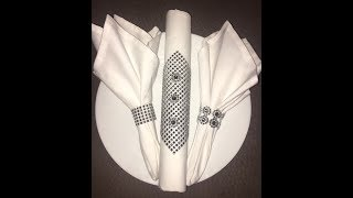 Rhinestones Napkin Rings Mesh Christmas Decor Flower Bling Diamonds Wedding Table  Decoration DIY.