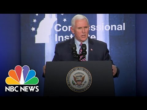 Vice President Mike Pence: President Donald Trump And I Will Stand With GOP In 2018   NBC News