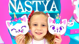 Nastya and her DIY room for kids decor ideas. Room In Style Like Nastya