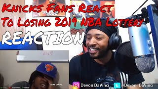Knicks Fans React to LOSING OUT on NBA LOTTERY! REACTION | DaVinci REACTS