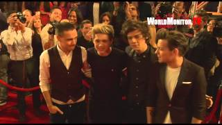 'One Direction' Band arrive to screaming fans at The X Factor Season 2 Finale
