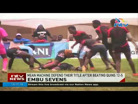 Mean Machine defend their Embu Sevens title after beating Quins 12-5