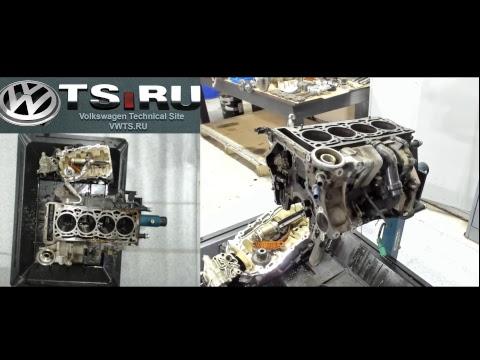 Фото к видео: Разборка двигателя AUDI A4 CDNC