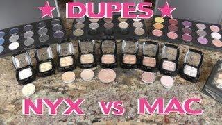 NYX Vs MAC Eyeshadow Dupes (Part 2)