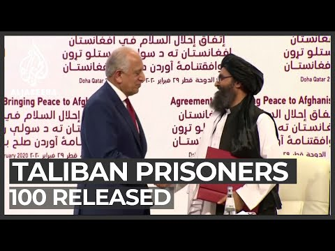 Afghan government releases 100 Taliban prisoners