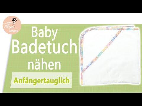 Baby Kapuzen Badetuch nähen für Anfänger - ohne Schnittmuster