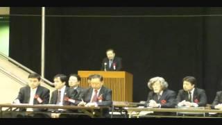 加瀬英明実行委員長11.11.26アジアの民主化東京大集会①