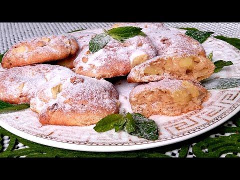 Рецепт яблочного печенья с изюмом  Cookies with apple and raisins