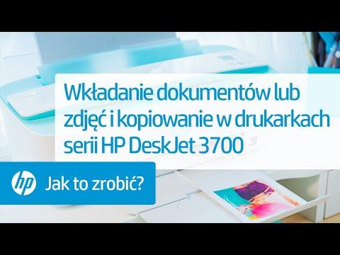 Wkładanie dokumentów lub zdjęć i kopiowanie w drukarkach serii HP DeskJet 3700