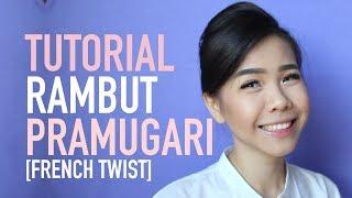 Tutorial Rambut Pramugari | FRENCH TWIST