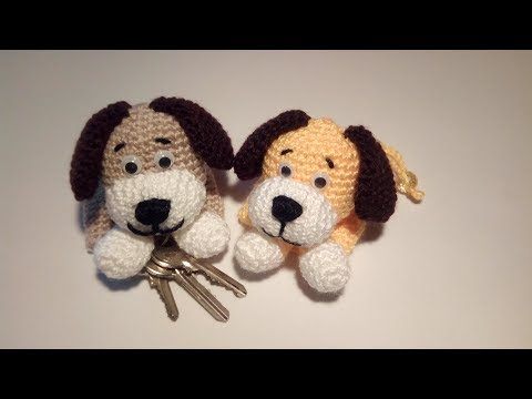 Cane Portachiavi Amigurumi Tutorial - Keychain Crochet Dog - Llavero Perro Crochet