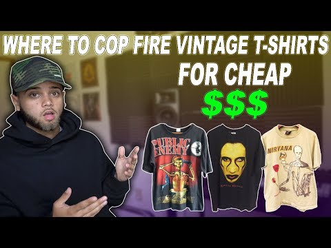 WHERE TO FIND FIRE VINTAGE T-SHIRTS FOR CHEAP