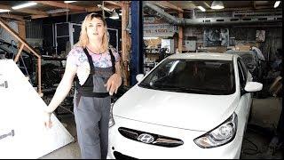 Хендай Солярис после ремонта. Авто после дтп.