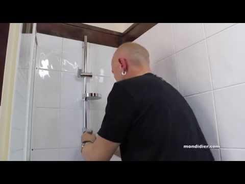 Pose barre de douche