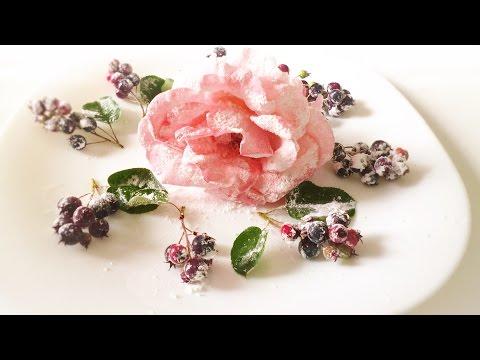Засахаренные украшения для торта из живых цветов и свежих ягод.Урок 11.