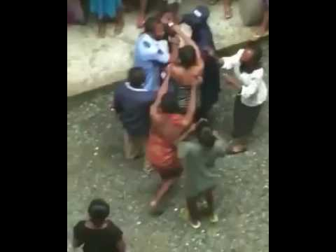 Girl caught and beaten for stealing in unilag's Emerald Hostel