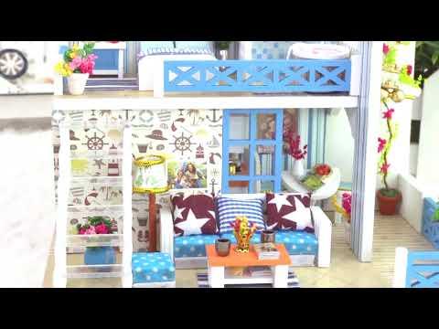 DollLabs Miniature DIY Dollhouse Kits with LED-K019