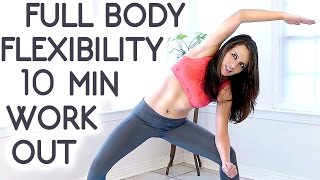 10 Minute Beginners Workout, Full Body Flexibility Stretches, At Home Stretching Routine Exercises by PsycheTruth