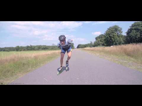 Inline skate double push technique 2 Ruurd Dijkstra