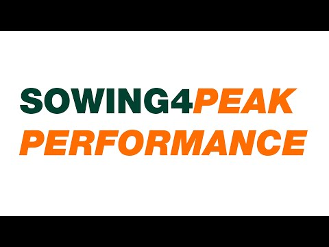 Sowing for Peak Performance