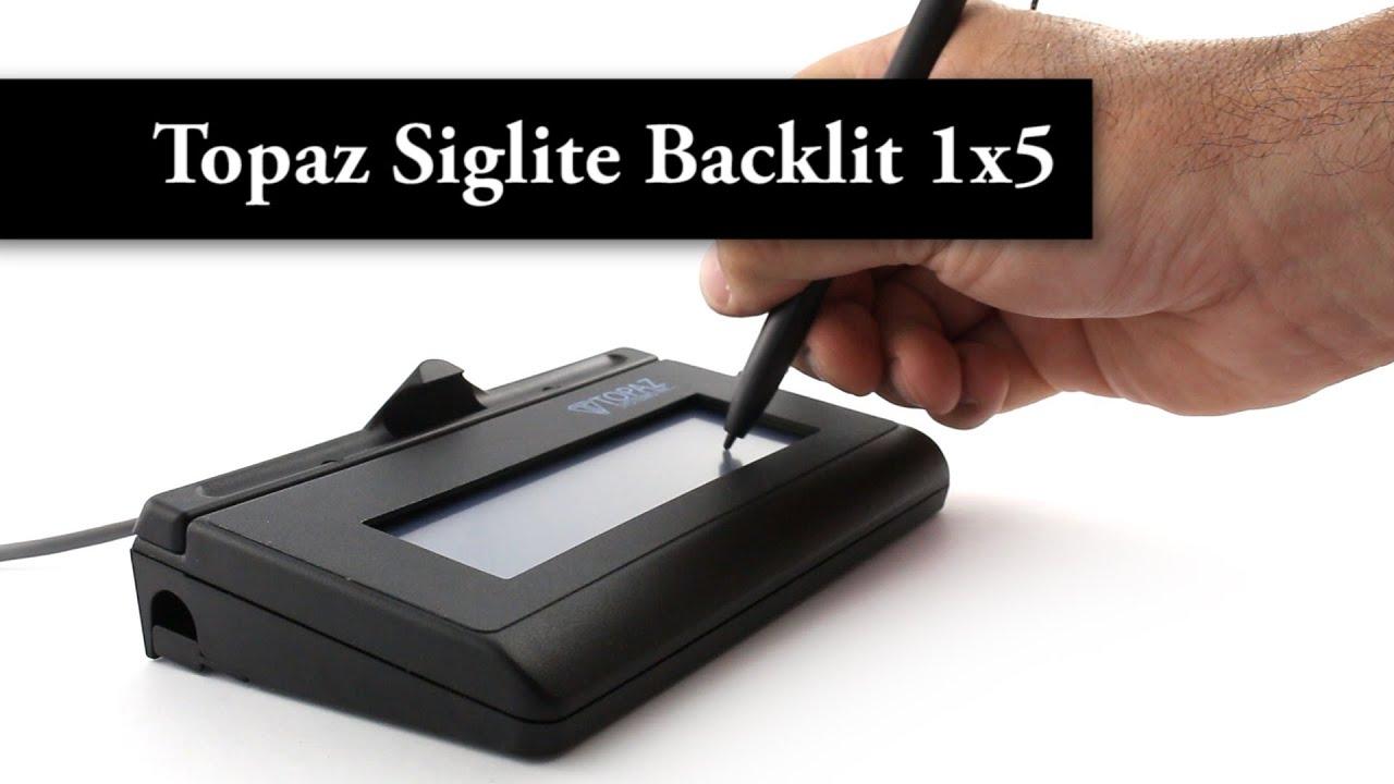 Topaz SigLite LCD Backlit 1x5 - USB
