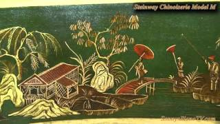 Chinoiserie Art Case Steinway M For Sale! THE GREEN CHI STEINWAY! Hand Painted Masterpiece!