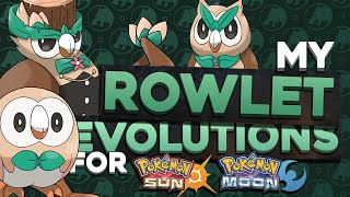Rowlet  - (Pokémon) - ROWLET EVOLUTION DESIGN CONCEPTS! | Pokemon Sun and Moon Starter Evolutions